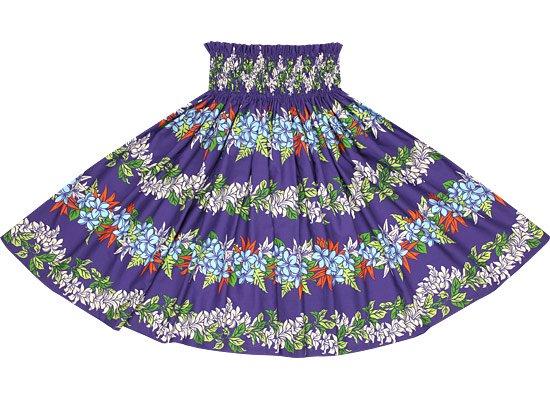 【蔵出し】紫のパウスカート プルメリアレイ・ボーダー柄 spau-re-2553PP【NPS】