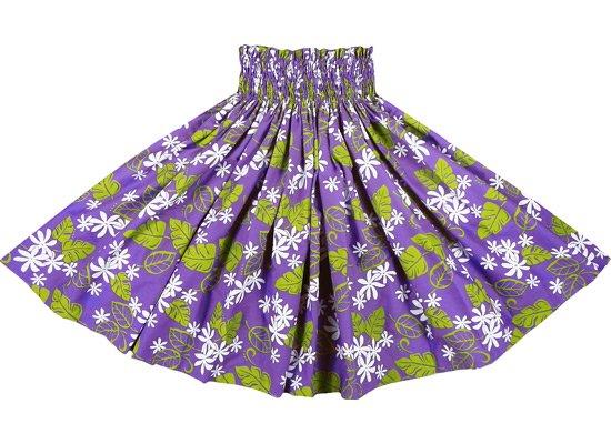 【蔵出し】紫のパウスカート プルメリア・リーフ総柄 spau-re-2046PP【NPS】