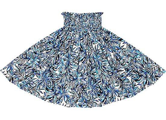 【蔵出し】クリーム色と青のパウスカート ティアレ・モンステラ柄 spau-re-2576CRBL【NPS】