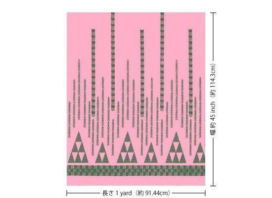 【カット生地】(1ヤード) ピンクのハワイアンファブリック オヘカパラ・カヒコ柄 fab1y-2712Pi 【4yまでメール便可】