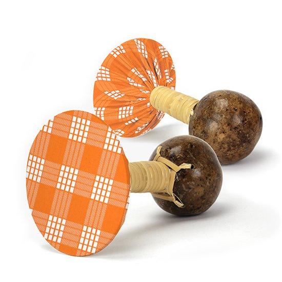 軽くて振りやすいウリウリ(ウリーウリー) オレンジのパラカ柄 Mサイズ (ヒロ・せきね製)【オーダーメイド】