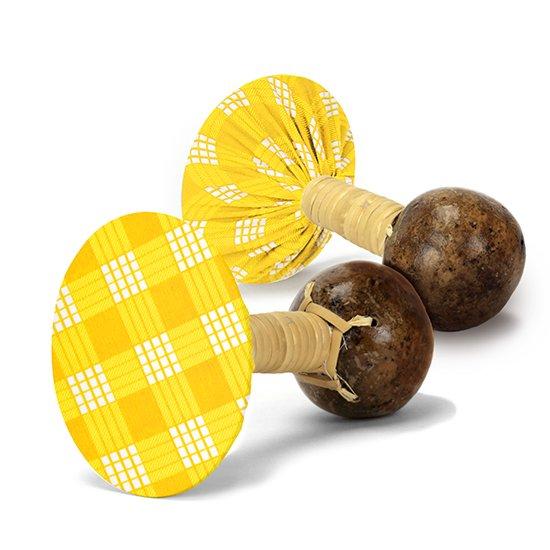 軽くて振りやすいウリウリ(ウリーウリー) 黄色のパラカ柄 Mサイズ (ヒロ・せきね製)【オーダーメイド】