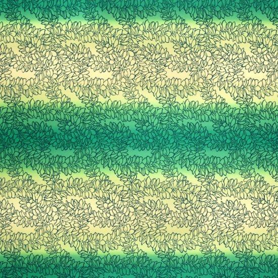 【カット生地】(3.5ヤード) クリーム色のハワイアンファブリック プルメリア・レイ・グラデーション柄 fab3.5y-2513CRGN 【4yまでメール便可】