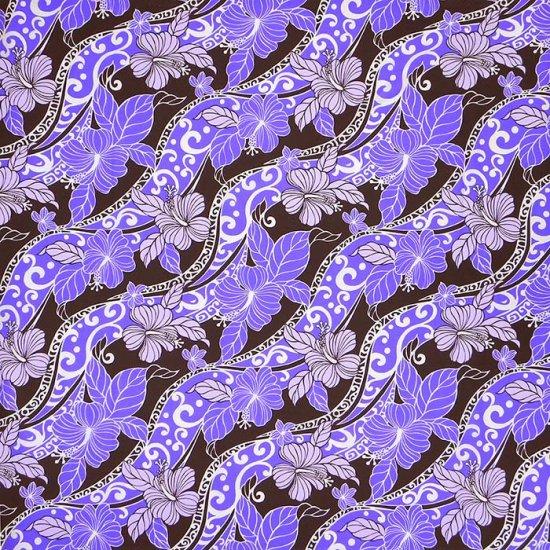 【カット生地】(3.5ヤード) 紫のハワイアンファブリック ハイビスカス柄 fab3.5y-2191PP 【4yまでメール便可】