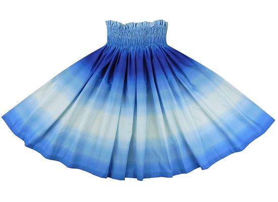 水色と青のパウスカート グラデーション柄 spau-rm-2270AQBL 75cm 4本ゴム【既製品】