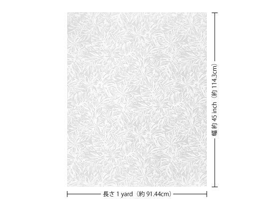 【カット生地】(1ヤード)白のハワイアンファブリック ティアレ・モンステラ柄 fab1y-2576WH 【4yまでメール便可】