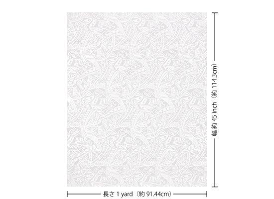 【カット生地】(1ヤード)白のハワイアンファブリック タパ・トライバル柄 fab1y-2702WH 【4yまでメール便可】