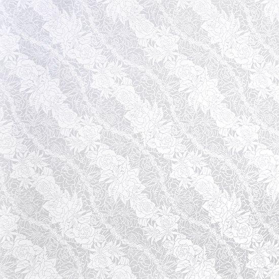 【蔵出し】白のハワイアンファブリック ロケラニローズ・リリー柄 fab-2519WHWH 【4yまでメール便可】