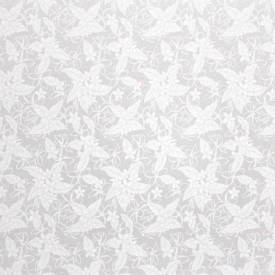 【蔵出し】白のハワイアンファブリック プルメリア柄 fab-2680WHWH 【4yまでメール便可】