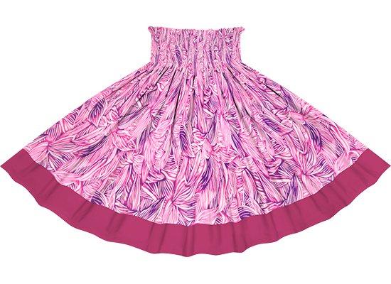 【ポエポエパウスカート】 ピンクのティリーフ総柄とフューシャの無地 pppau-r-2766Pi