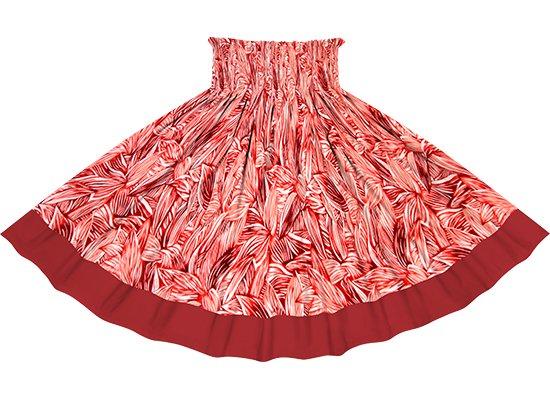 【ポエポエパウスカート】赤とピンクのティリーフ総柄とフューシャの無地 pppau-r-2766RDPi
