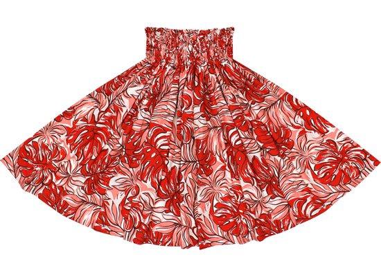【蔵出し】赤のパウスカート モンステラ・ヤシ柄 spau-2495RD-re