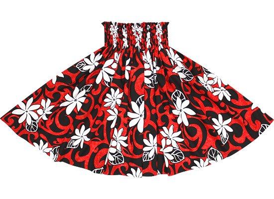 【蔵出し】赤のパウスカート ティアレ・タパ柄 spau-re-2548RDBK