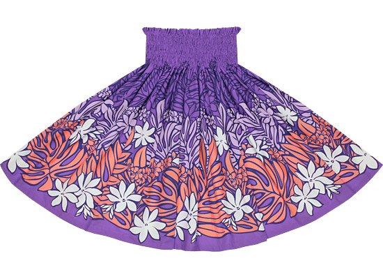 【蔵出し】紫のパウスカート モンステラ・ティアレ柄 spau-re-2561PP【TS】