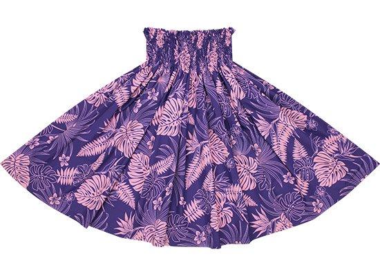 【蔵出し】紫のパウスカート モンステラ・シダ・バードオブパラダイス柄 spau-re-2597PP