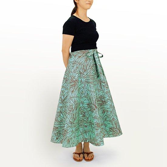 3way スカート ワンピース ティリーフ柄 水色 01004-2764AQ