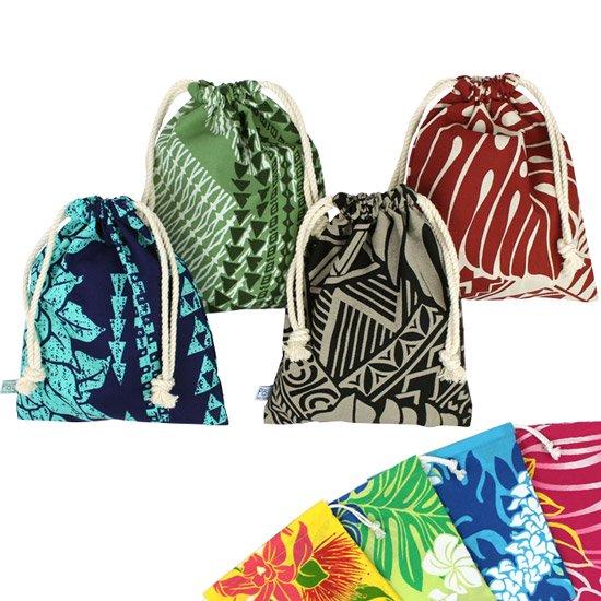 ハワイアン巾着 ランダム4枚セット 【メール便可】
