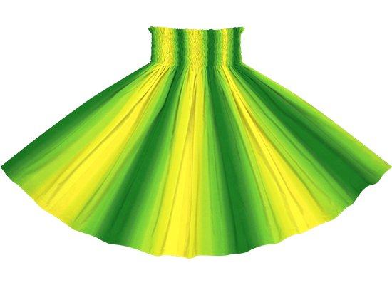 【パネル切り替えパウスカート】黄色と緑のグラデーション柄 4枚はぎ pnpau-2270YWGN