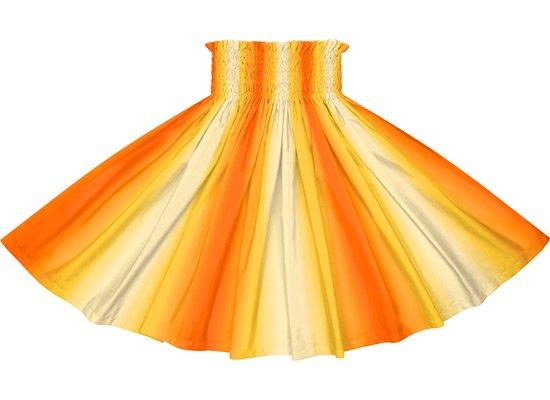 【パネル切り替えパウスカート】黄色とオレンジのグラデーション柄 4枚はぎ pnpau-2270YWOR