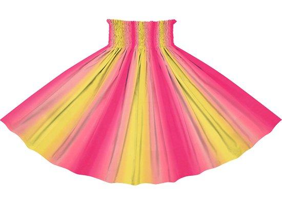【パネル切り替えパウスカート】黄色とピンクのグラデーション柄 4枚はぎ pnpau-2270YWPi