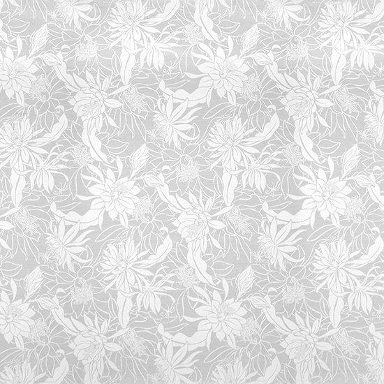 白のファブリック ピタヤ・ナイトブルーミングセレウス柄 fab-2785WH 【4yまでメール便可】