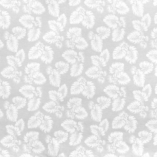 白のファブリック レフア・モンステラ柄 fab-2786WH 【4yまでメール便可】