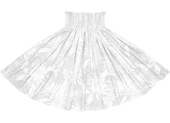 白のパウスカート ピタヤ・ナイトブルーミングセレウス柄 sprm-2785WH 75cm 4本ゴム 【既製品】