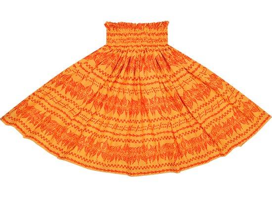 オレンジのパウスカート ティリーフ・タパ柄 Sprm-2595OR 75cm 4本ゴム 【既製品】