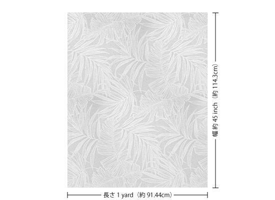 【カット生地】(1ヤード)白のハワイアンファブリック ヤシ・バナナリーフ柄 fab1y-2752WH 【4yまでメール便可】