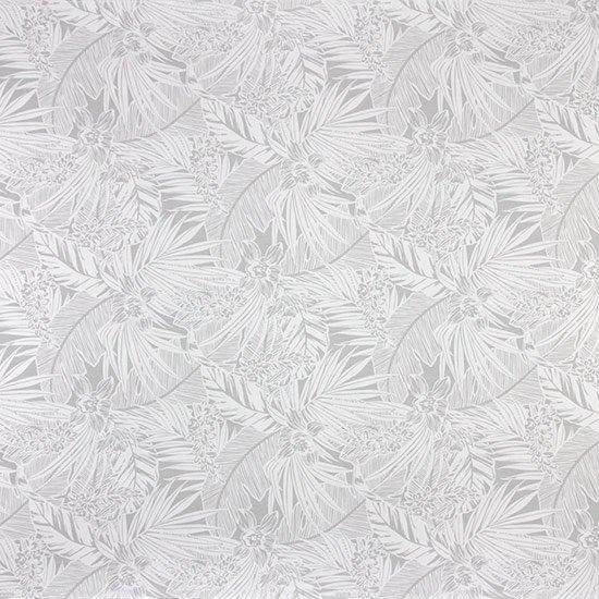 【カット生地】(3ヤード) 白のハワイアンファブリック オーキッド・ヤシ・バナナリーフ柄 fab3y-2715WH 【4yまでメール便可】