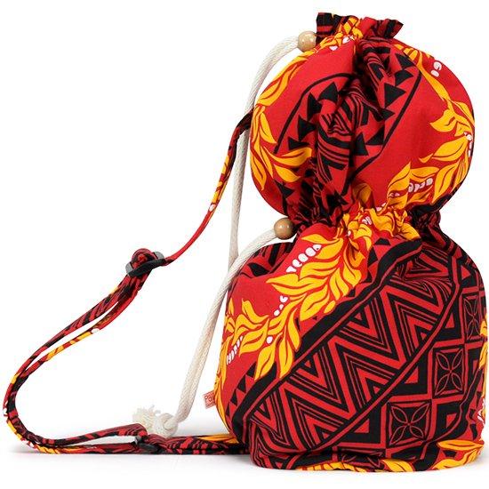 出し入れしやすい 赤のイプケース ショルダータイプ マイレ・モキハナ・タパ柄 ipucase-sld-2467RD イプバッグ 【既製品】