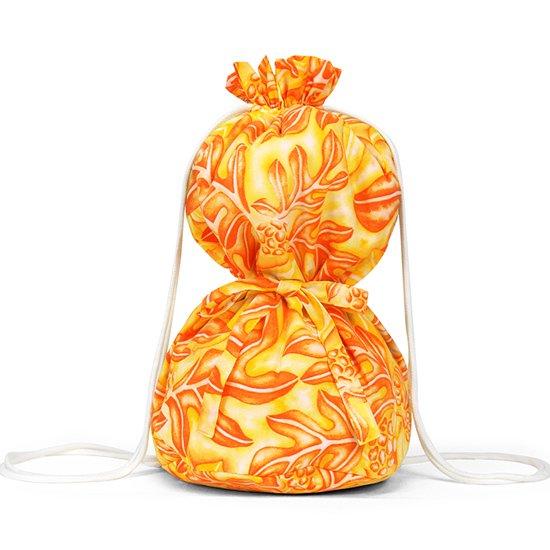 オレンジのイプケース リボンタイプ ウル柄 ipucase-rbn-2635ORYW イプバッグ 【既製品】