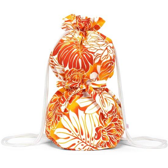 オレンジのイプケース リボンタイプ モンステラ・ジンジャー柄 ipucase-rbn-2481OR イプバッグ 【既製品】