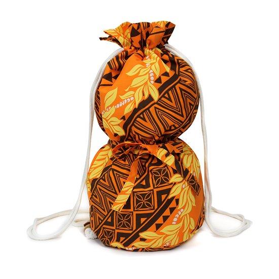 オレンジのイプケース リボンタイプ マイレ・モキハナ・タパ柄 ipucase-rbn-2467OR イプバッグ 【既製品】