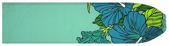 水色のパウスカートケース ハイビスカス・ヤシ柄 pcase-2698AQ 【メール便可】★オーダーメイド