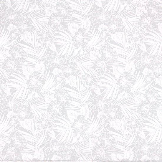 白のハワイアンファブリック ハイビスカス・ヤシ柄 fab-2788WHWH 【4yまでメール便可】