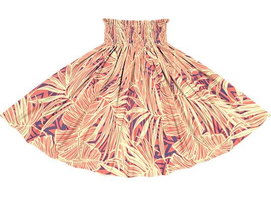 ピンクのパウスカート ヤシ・バナナリーフ柄 spau-rm-2752Pi 75cm 4本ゴム ロック仕上げ 【既製品】