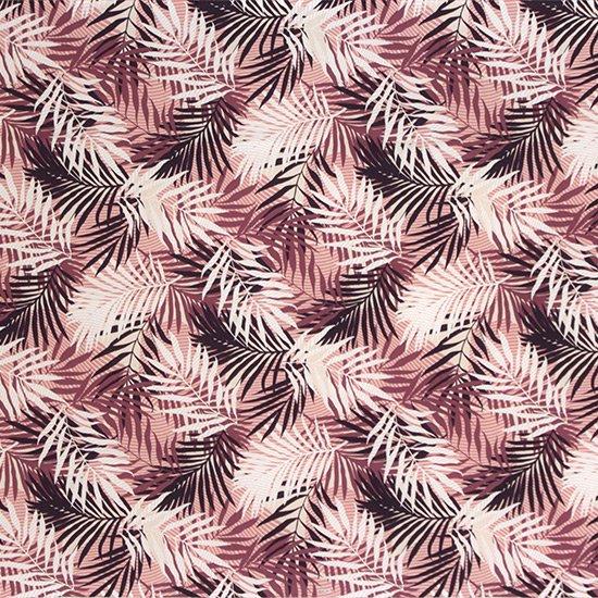 紫のハワイアンファブリック ヤシ柄 fab-2789PP 【4yまでメール便可】