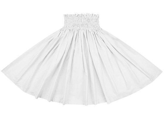 ホワイトの無地パウスカート spau-rm-white 75cm 4本ゴム 【既製品】