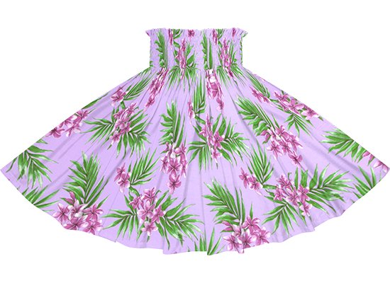 紫のパウスカート プルメリア・ヤシ柄 spau-2792PP