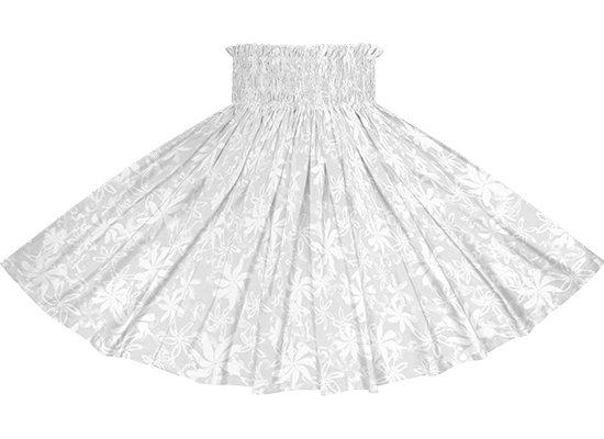 白のパウスカート ティアレ柄 spau-2794WH