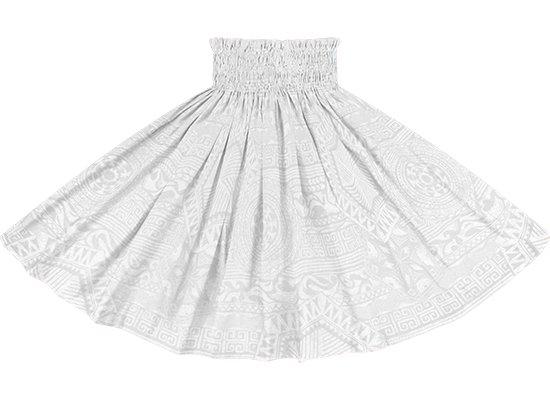 白のパウスカート カヒコ柄 spau-rm-2795WHWH 75cm 4本ゴム 【既製品】