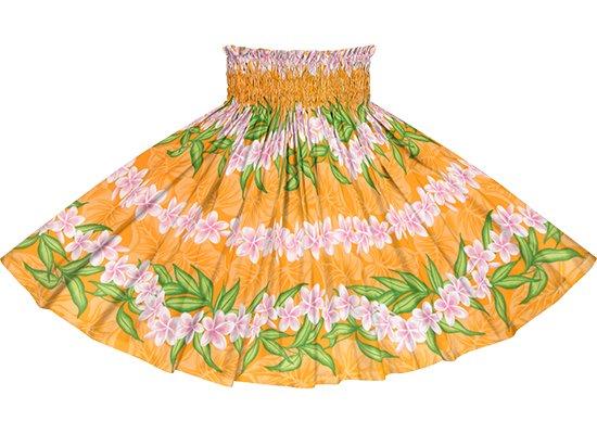 オレンジのパウスカート プルメリア・ボーダー柄 spau-rm-2796OR 75cm 4本ゴム 【既製品】