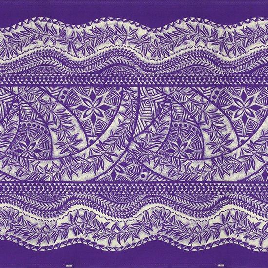 紫のハワイアンファブリック カヒコ・リーフ柄 fab-2797PP 【4yまでメール便可】