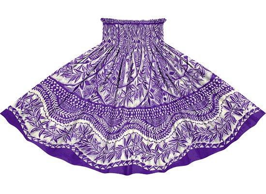 紫のパウスカート カヒコ・リーフ柄 spau-2797PP