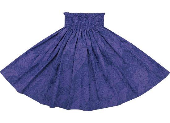 青紫のパウスカート モンステラ総柄 spau-rm-2022PPBL 72cm 4本ゴム ロック仕上げ【既製品】