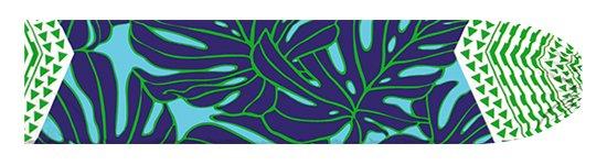水色と青のパウスカートケース モンステラ・カヒコ柄 pcase-2798AQBL 【メール便可】★オーダーメイド