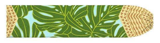 水色と緑のパウスカートケース モンステラ・カヒコ柄 pcase-2798AQGN 【メール便可】★オーダーメイド