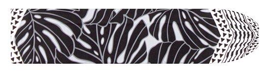 グレーと黒のパウスカートケース モンステラ・カヒコ柄 pcase-2798GYBK 【メール便可】★オーダーメイド
