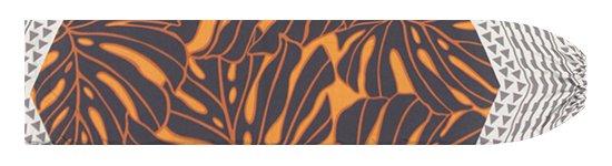 オレンジと黒のパウスカートケース モンステラ・カヒコ柄 pcase-2798ORBK 【メール便可】★オーダーメイド